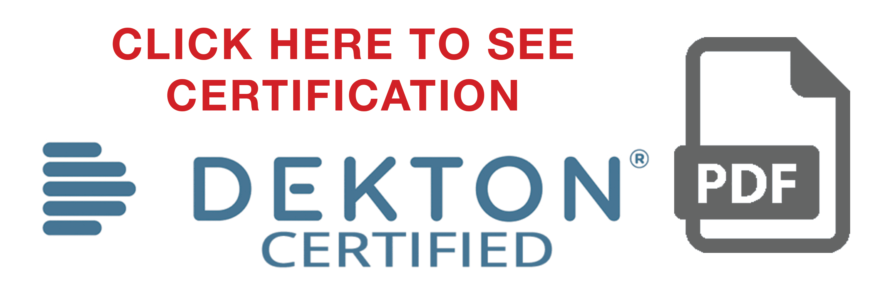 DektonCertification