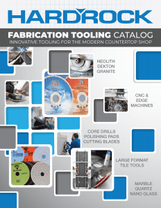 Hard Rock Tool Fabrication Tooling Catalog 2019