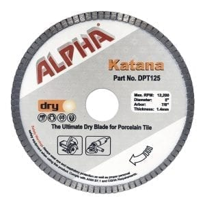 Alpha Katana Turbo Porcelain Tile Blade