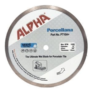Alpha Porcellana 10in Porcelain Tile Blade