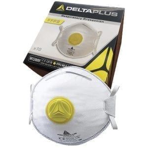 DeltaPlus Disposable Respirator Dust Mask with Exhalation Valve M1200V
