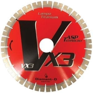 Diamant-D VX3 Lampo Titanium Bridge Saw Blade