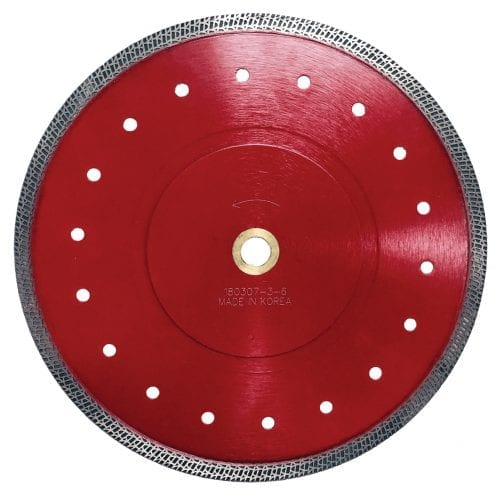 "Dominator Red 10"" Blade for Porcelain and Quartzite"