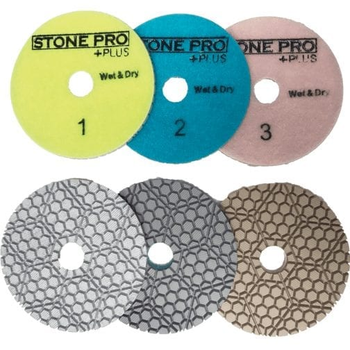 Dry Polishing Pads 4in
