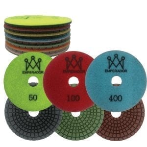 Emperador Diamond 7 Step Polishing Pads 4″