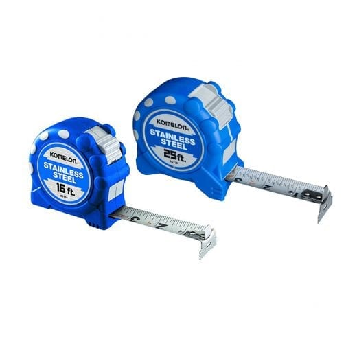 Komelon Gripper Stainless Steel Measuring Tapes