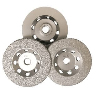 Neolith 4 Vac Brazed Cup Wheels- Coarse & FIne