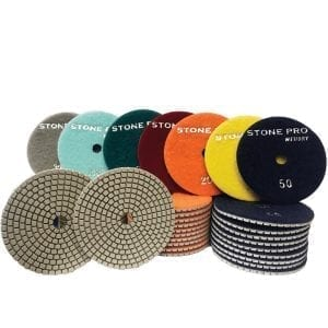Stone Pro Hybrid Diamond White Polishing Pads  4″ & 5″