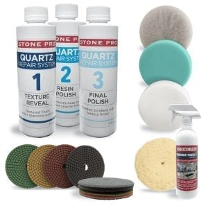 Stone Pro Quartz Repair Complete Kit with Diamond Pads